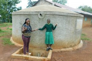 The Water Project:  Field Officer Jacklyne Chelagat With Student Eunice Mmboga