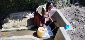 The Water Project:  Water Committee Secretary Medline Baraza