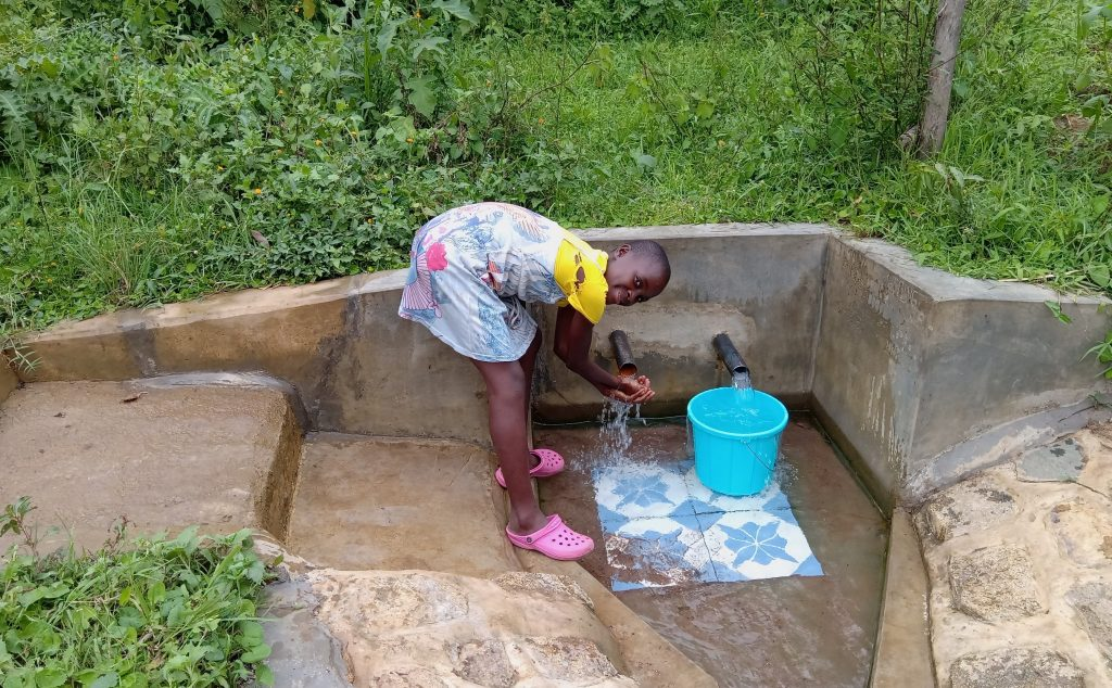 The Water Project : 1-kenya18135-tabitha-sunguti-at-the-spring