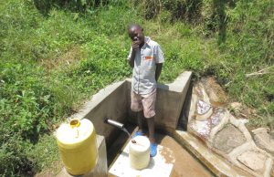 The Water Project:  Joseph Musiomi Fetches Water