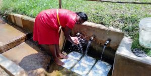 The Water Project:  Field Officer Karen Maruti At The Spring