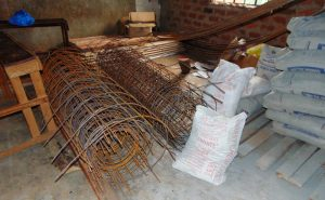 The Water Project:  Bags Of Cement And Rebar