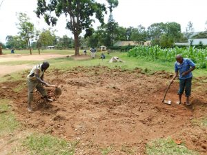 The Water Project:  Clearing The Rain Tank Site