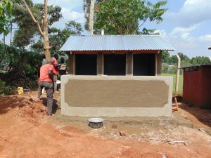 The Water Project:  Latrines Nearly Complete