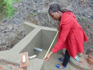 The Water Project:  Field Officer Christine Masinde Supervising Works