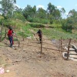 The Water Project: Sasala Community, Kasit Spring -  Fencing The Spring Box