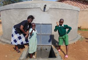The Water Project:  School Staff And Students At The Tank