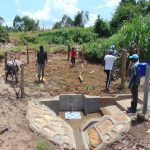 The Water Project: Shihungu Community, Shihungu Spring -  Fence Construction