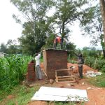 The Water Project: Kimangeti Primary School -  Fitting The Roof