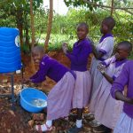 The Water Project: Magaka Primary School -  Girls Handwashing
