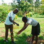 The Water Project: Ikonyero Community, Amkongo Spring -  Handwashing Practice