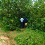The Water Project: Kerongo Secondary School -  Going Through Bushes To Access Water