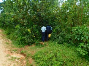 The Water Project:  Going Through Bushes To Access Water