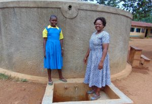 The Water Project:  Mary With Sanitation Teacher Mrs Jessica Mideva