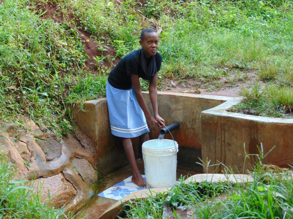 The Water Project : 2-kenya18136-girl-fetches-water
