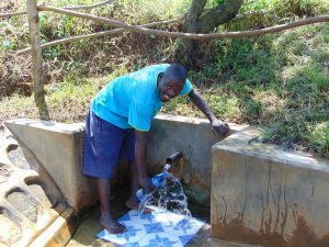 The Water Project:  Charles Mutwaro Gets A Drink