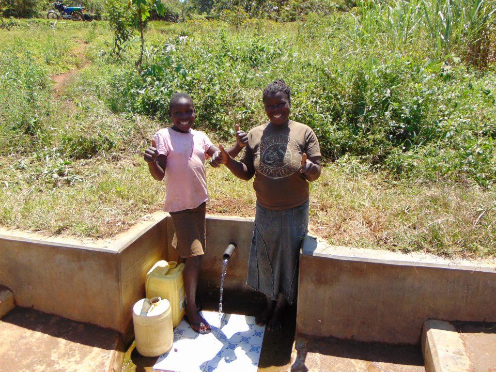 The Water Project : 2-kenya18152-all-smiles-with-precious-and-maureen-khavetsa