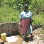 The Water Project: Emasera Community, Visenda Spring -  Violet Nabwanya At The Spring