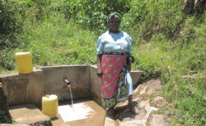 The Water Project:  Violet Nabwanya At The Spring