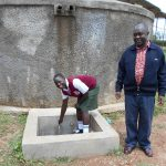 The Water Project: Kaimosi Demonstration Secondary School -  Cynthia And Principal Patrick Amalemba