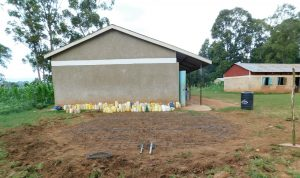 The Water Project:  Wire Laid For Rain Tank Foundation With Water In The Background