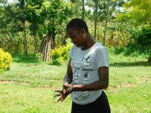 The Water Project:  Angeline Nafula Washing Her Hands