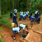 The Water Project: Kerongo Secondary School -  Fetching Water