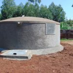 The Water Project: Magaka Primary School -  Finished Rain Tank