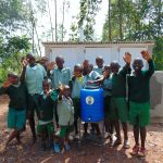 The Water Project: Lwanga Itulubini Primary School -  Boys With Their Handwashing Station