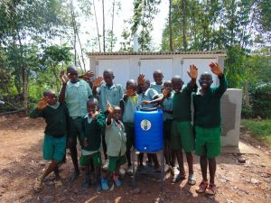 The Water Project:  Boys With Their Handwashing Station