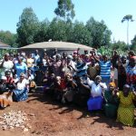 The Water Project: Magaka Primary School -  Parents Celebrate The New Tank