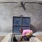The Water Project: Kimangeti Primary School -  Feeling The Tank Water