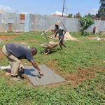 The Water Project: Lutonyi Community, Lutomia Spring -  Finishing A Sanitation Platform