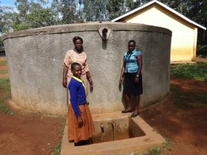 The Water Project:  Joan With Deputy Head Teacher Eunice Khatunyi And Field Officer Mary