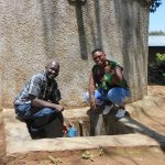 The Water Project: Eshisenye Primary School -  Mr Chibole With Field Officer Jacklyne Chelagat