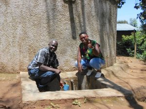 The Water Project:  Mr Chibole With Field Officer Jacklyne Chelagat