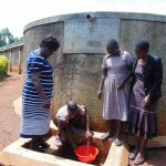 The Water Project: Shitaho Community School -  Students Fetch Water From The Rain Tank
