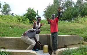 The Water Project:  Field Officer Victor Musemi With Yvonne And Jeremiah