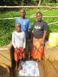 The Water Project:  Water Committeee Chair Mr Indimuli With Michelle And Betty