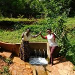 The Water Project: Shirakala Community, Ambani Spring -  Rhoda Sakwa And Field Officer Jacklyne