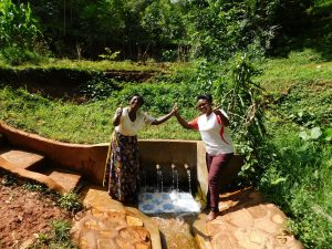 The Water Project:  Rhoda Sakwa And Field Officer Jacklyne