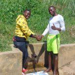 The Water Project: Burachu B Community, Maji Mazuri Spring -  Field Officer Jemmimah Khasoha With Elias