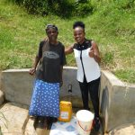 The Water Project: Emachembe Community, Mukabane Spring -  Margaret With Field Officer Georgina Kamau