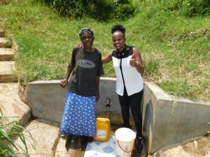 The Water Project:  Margaret With Field Officer Georgina Kamau