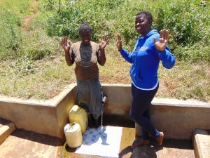 The Water Project:  Maureen With Field Officer Jemmimah At The Spring