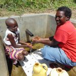 The Water Project: Shirugu Community, Shapaya Mavonga Spring -  Celestine And Violet Enjoying The Spring Water