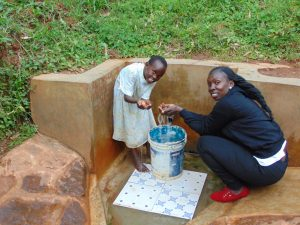 The Water Project:  Field Officer Laura Alulu With Sarah