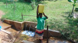The Water Project:  Joyce Vihenda Ready To Carry Water Home