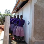 The Water Project: Magaka Primary School -  Girls With Their New Latrines