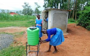The Water Project:  Handwashing Outside The Latrines